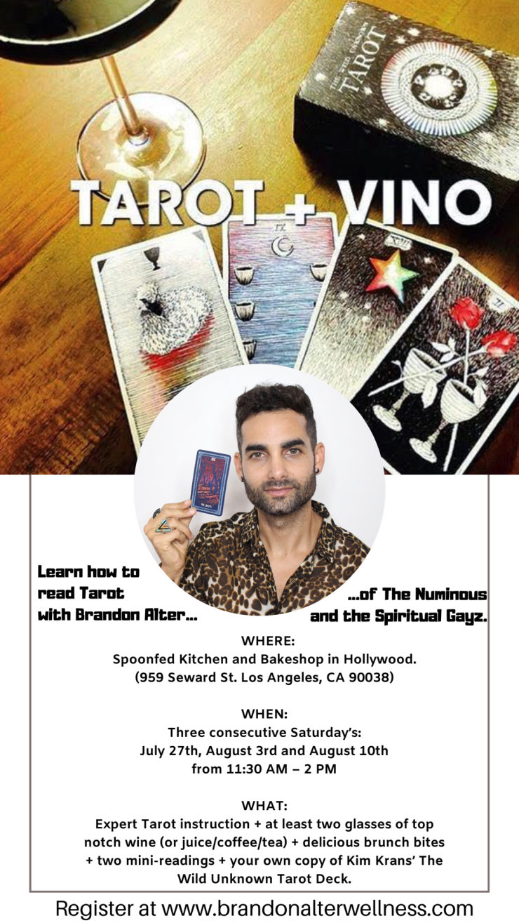 Three Week Tarot Class with Brandon Alter of The Numinous and The Spiritual Gayz